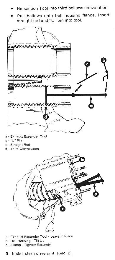 91-45497A1 MerCruiser Exhaust Bellows Expander - MerCstuff com