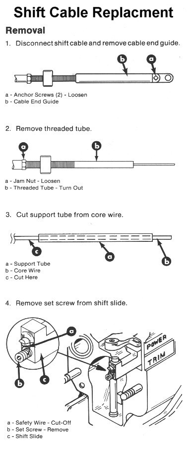mercruiser alpha one shift cable diagram