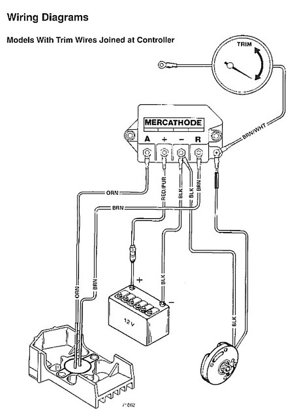 mercruiser tilt trim wiring diagram electrical schematic