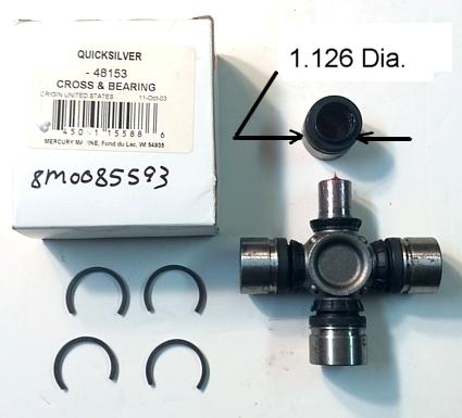 MerCruiser U-Joints # 75832T1 - MerCstuff Com