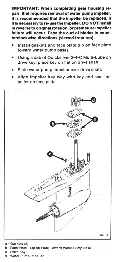 Mercruiser Outdrive Water Pump Replacement Instructions Mercstuff